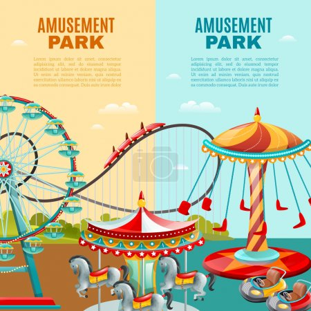 Amusement Park Vertical Banners