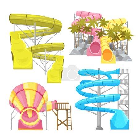 Aquapark Equipments Images Set