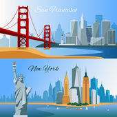 USA Flat Composition Banners