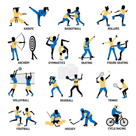 Set Of Sportsmen Silhouettes
