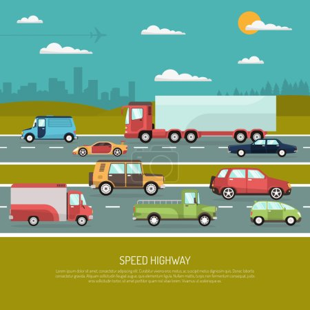 Speed Highway Illustration