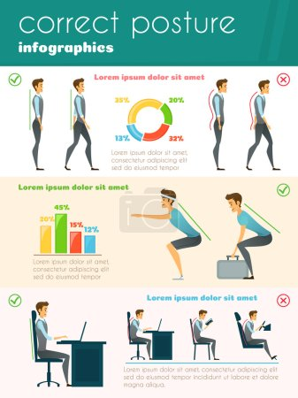 Posture Infographics Template
