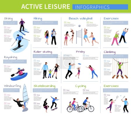 Active Leisure People Infographics