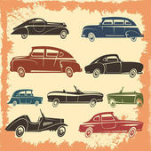 Retro Car Models Vintage Style Collection
