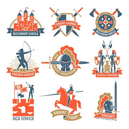 Heraldic Knight Emblems Logos