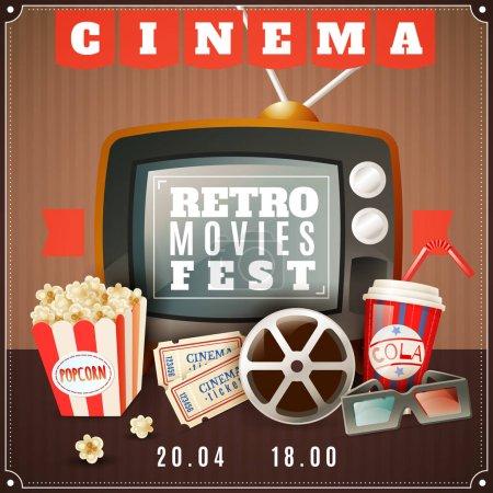 Cinema Retro Movies Festival Announcement Poster
