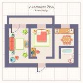 Architektonický plán ilustrace