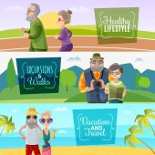 Old Couple Horizontal Banners