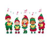 Caroling kids set