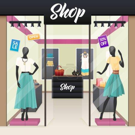 Women Fashion Shop Sale Window display