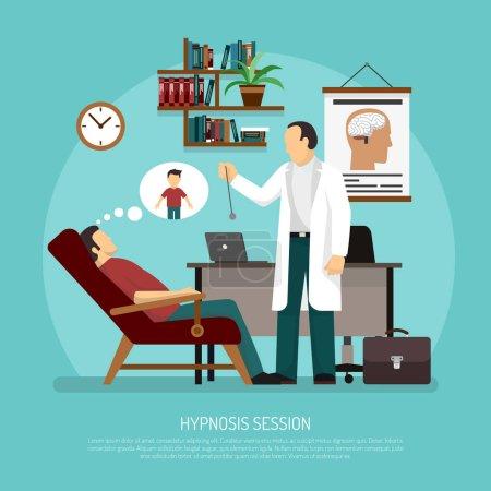L'hypnose Session Vector Illustration