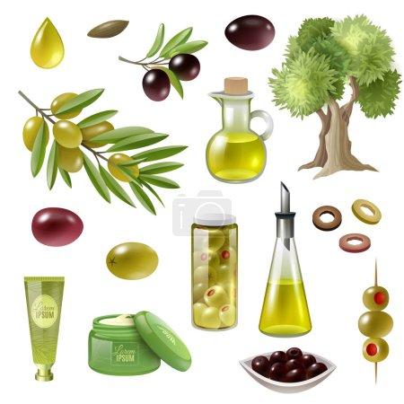 Olive Cartoon Set