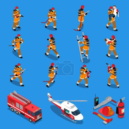 Fireman Isometric Set