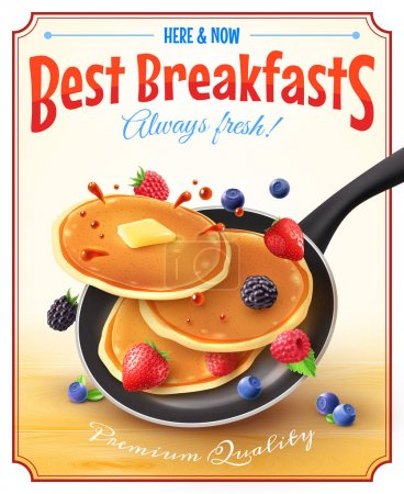 Premium quality restaurant breakfasts vintage styl...