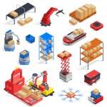 Automatic logistics warehouse robots isolated isom...