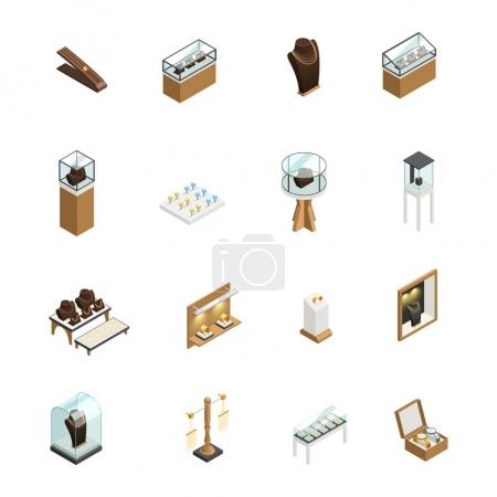 Jewelry Shop Isometric Elements