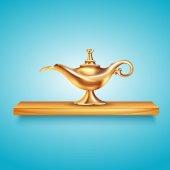 Aladdin Lamp On Pedestal Composition