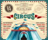 Circus Performance Announcement Retro Poster