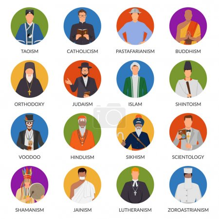 People From World Religions Flat Avatars