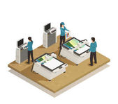 Printing House Production Isometric composition