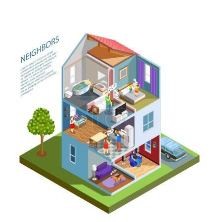 Neighbors Isometric Composition