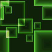 Green dark seamless pattern with shining neon squares