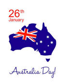 happy Australia day greeting card in australian flag colors vector illustration