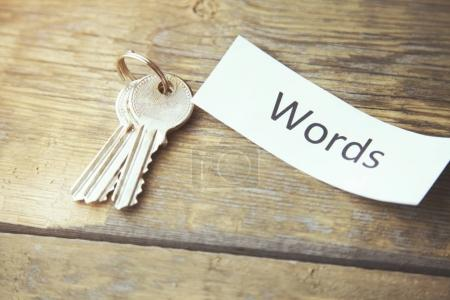 key and Words word