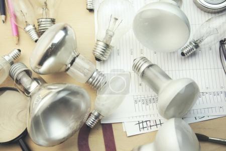 bulbs on document