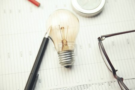bulb and stationery