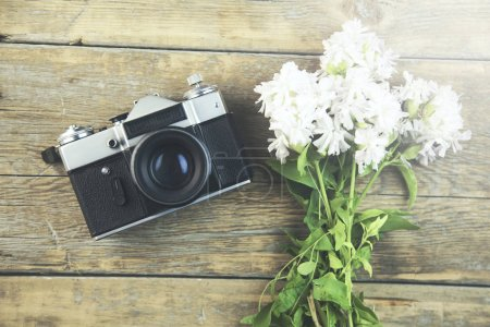 flowers and camera
