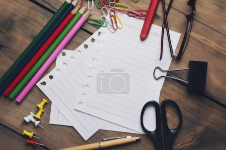 stationery on table