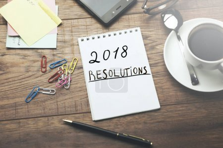 2018 Resolutions text on page