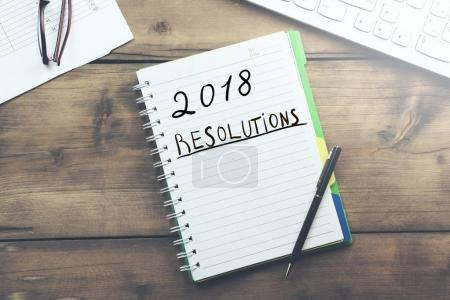 2018 Resolutions with keyboard
