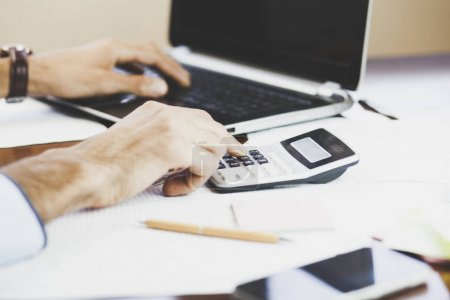Businessman Accounting in office