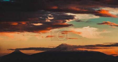Photo for Sun set with big clouds. Nature - Royalty Free Image