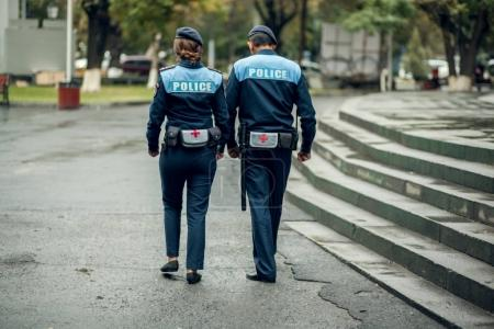Police walking on   street