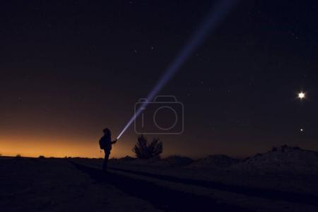 A man looking on  Milky way.