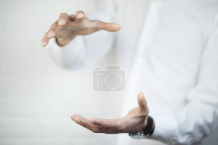 male human hands, close up