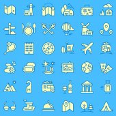 Travel icons set for web and mobile Vector illustration