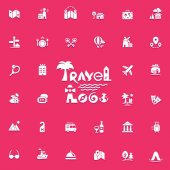 Travel logo and icons set for web and mobile app Vector illustration
