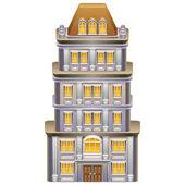 Detailed illustration of building / skyscraper icon Vector illustration