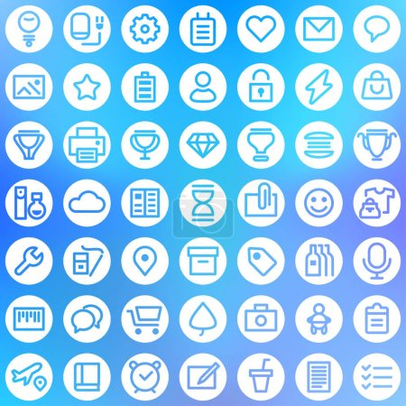 Simple line icons pack for your design