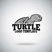 Vector Turtle logo template for sport teams business etc