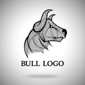 Vector Bull logo template for sport teams business brands etc