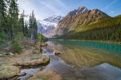 Cavell Lake in Jasper National Park, Canada