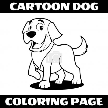 Illustration vector graphic of cartoon dog outline...