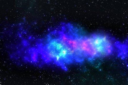 Photo pour Le centre de la galaxie laiteuse et de la poussière de l'espace dans l'univers, ciel étoilé de nuit avec des étoiles dans l'espace. Galaxie spirale dans l'espace lointain. Illustration 3d - image libre de droit