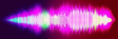 Schallwelle, Wellenfrequenzen, leichter abstrakter Hintergrund, hell, Equalizer. Schallwellen schwingen. 3D-Illustration