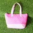Background with pretty tote bag...